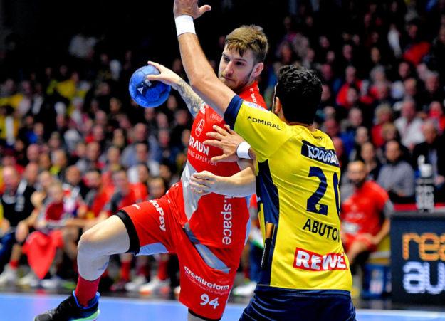 Domagoj Pavlovic meldete sich mit einem Kempa-Tor nach langer Verletzungspause zurück. Foto: Heinz Hartung