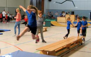 Einen großen Anklang fand das Gaukinderturnfest in Wabern bei den jungen Nachwuchssportlerinnen und -sportlern. Foto: nh
