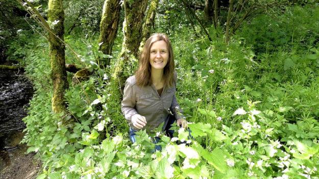 Gemeinsam geht es mit Anke Dobel auf Kräuterwanderung in Melsunger Gemarkung. Foto: Kultur- & Tourist-Information