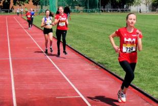 Maybritt Böttcher lief ein tolles 80m-Rennen und holte sich den Titel mit neuer persönlicher Bestzeit. Foto: nh