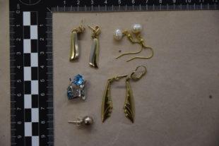 Einige Ohrringe. Foto: Polizei