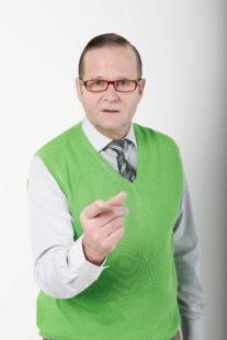 Professor H.-H. Thielke liefert seine wunderbar verschrobenen Denkanstöße. Foto: © T. Hashemi
