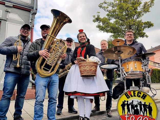 Livemusik mit Blechbläsern gehört zum Radspaß im Rotkäppchenland. Foto: nh
