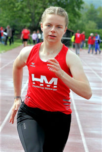 Vivian Groppe beeindruckte auf den Sprintstrecken über 100 und 300 Meter