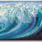 »Welle« von Ansgar Skiba. In kräftigen Farben entfaltet sich die Energie der Natur in einer Woge. Repro: nh
