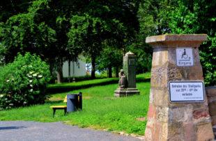 Der Stadtpark Alter Friedhof, Homberg, Eingang Ecke Westheimer- und Parkstraße, Juni 2019. Foto: Schmidtkunz