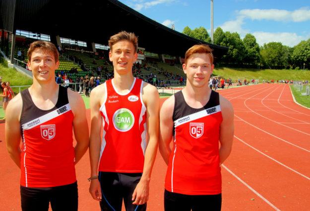 Fabian Feldmann, Paul Kirschner, Lucas Natusch. Foto: Bernd Feldmann