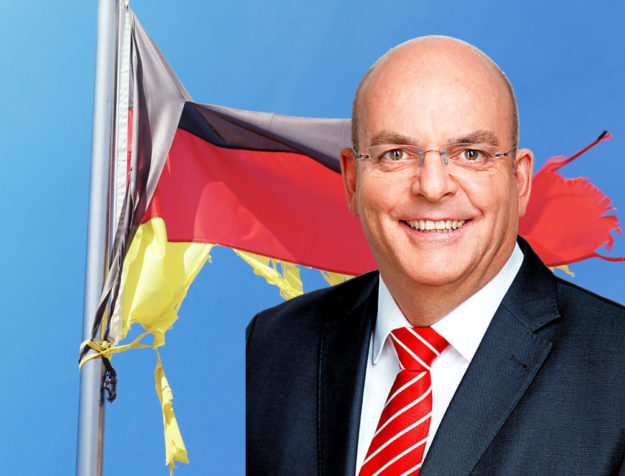 Hängt die SPD Fetzen? Prof. Dr. Edgar Franke, MdB, referierte in Homberg über die Zukunft der Partei. Fotos: Kraehahn / Michi S | Montage: SEK-News