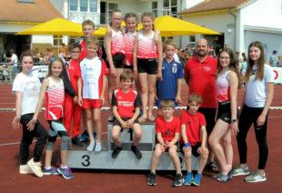 Das Team aus dem TG Fulda-Eder bei den Mehrkampfmeisterschaften in Petersberg. Foto: nh