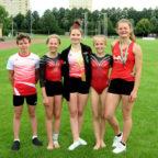 Das Bild zeigt (v.li.) Jonathan Feilcke, Anna-Laura Ginthum, Luna Grösch, Juliana Wagner und Nele Schmoll. Foto: nh