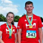 Hoch motiviert glänzten Luis Andre und Vivian Groppe mit zwei Gold- und zwei Silbermedaillen bei den Süddeutschen Meisterschaften in Koblenz. Foto: nh