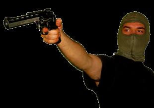 Bewaffneter Raubüberfall. Symbolfoto: Schmidtkunz
