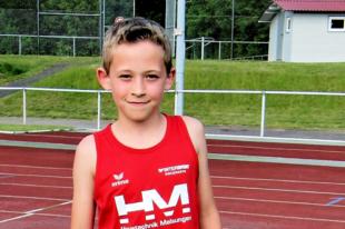 Jean Heilmann (2009) holte sich die Sprintwertung in der U12 mit vorzüglichen 7,84 und 8,02 Sekunden. Foto: nh