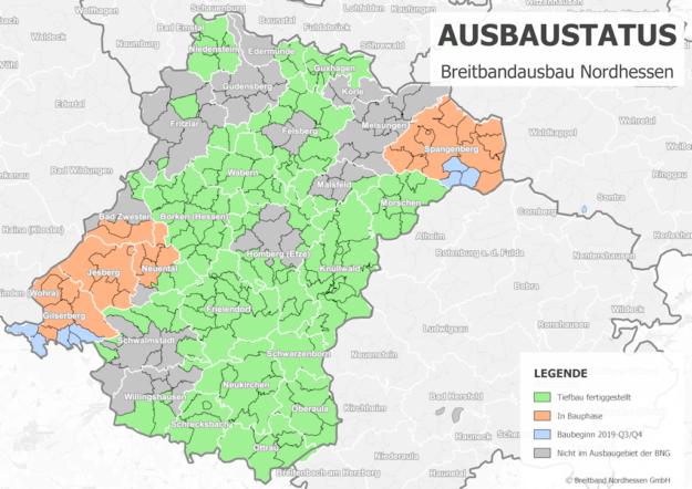 Die Breitband Nordhessen GmbH (BNG) gibt aktuell den Ausbaugrad für das schnelle Internet im Schwalm-Eder-Kreis bekannt. Foto: BNG