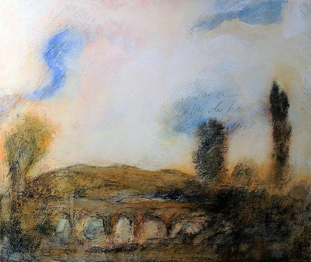 Zwei mal vier Stunden Kunstkurs gibt Michael Lampe zum Thema Landschaftsmalerei. Repro: nh