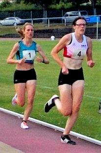 Luise Zieba, die für Annika Koil das Tempo machte und sich am Ende souverän durchsezten konnte. Foto: nh
