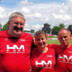 Reiner Hilgenberg, Monika Groh und Bernd Gabel vertraten die Melsunger Farben beim Pfingstsportfest in Allendorf. Foto: nh