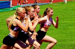 Vivian Groppe lag im 100m-Finale lange vor ihren Verfolgerinnen und wurde erst kurz vor der Ziellinie abgefangen. Foto: nh