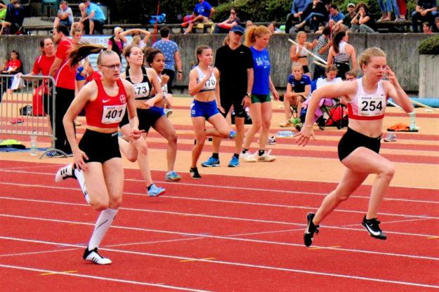 Vivian Groppe setzte sich in Siegburg über 100m der U16 mit 12,28 Sekunden durch. Foto: nh