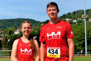 Vivian Groppe und Luis André peilen bei den süddeutschen U16-Meisterschaften vier Medaillen an. Foto: nh