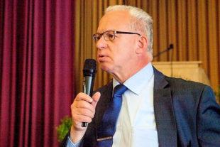Vizelandrat Jürgen Kaufmann auf dem 3. Lip- & Lymphödemtag in Fritzlar. Foto: nh