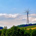 Windrad an der A7 bei Malsfeld. Foto: Schmidtkunz