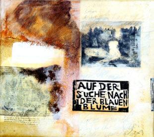 """""""Auf der Suche nach der Blauen Blume."""" Grafik: Michael Lampe"""