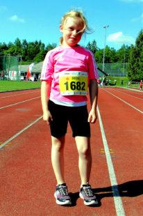 Aillen Heilmann, mit 8 Jahren die jüngste Athletin im MT-Talentschuppen. Foto: nh