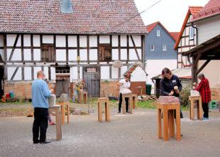 Die »Arbeit am Stein« auf dem Hofgut läuft vom 16. bis 18. August. Foto: nh