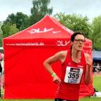 Luise Zieba auf dem Weg zur Bronzemedaille im 5000m-Lauf der W35. Foto: nh
