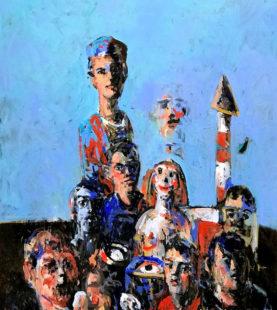 Die Figürlichkeit liegt auf der Hand, die künstlerische Aussage jedoch im Auge des Betrachters. Bild: Luk Van Driessche