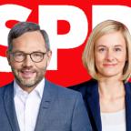 Michael Roth und Christina Kampmann konnten als Doppelspitze für den Vorsitz der SPD die Parteibasis nicht überzeugen. Fotos: Susie Knoll, Catrin Moritz | Montage: gsk