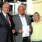 Vorsitzender AG 60 plus Siegfried Richter, Dieter Fischer, Schriftführerin Patricia Siemon (v.li.). Foto: SPD