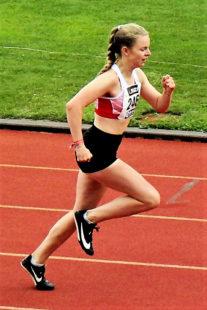 Vivian Groppe, die hochmotiviert aus dem Urlaub anreiste und mit der erhofften Silbermedaille wieder Bremen verließ. Foto: nh