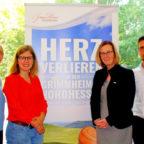 Von links: Corinna Zehender von der Tourismusförderung des Landkreises Hersfeld-Rotenburg traf sich mit Vertretern vom Regionalmanagement Nordhessen: Hanna Kramer (Projektmanagerin), Ute Schulte (Geschäftsführerin) und Daniel Teppe (Projektmanager). Foto: Regionalmanagement Nordhessen