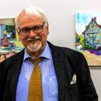 Fachsimpeln mit Dr. Friedhelm Häring beim 1. Malersymposium. Foto: nh