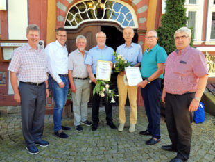 Klemens Olbrich, Thorsten Vaupel, Gerhard Raubert, Heinz Schröder, Helmut Schaub, Wilhelm Kröll und Stefan Pinhard. Foto: nh
