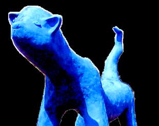 Die »Blau Miau« der Künstlerin Carin Grudda aus Gudensberg. Foto: nh