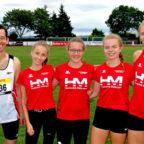 Dieses Quintett - Sascha Holzhauer, Maybritt Böttcher, Lynn Olson, Vivian Groppe und Kati Wagner - holte sich die Titel bei den Kreismeisterschaften in Borken. Foto: nh