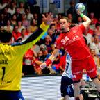 Die MT Melsungen ist im Heimspiel gegen die SG-Flensburg-Handewitt unterlegen geblieben. Mit Kai Häfner stand einer der erfolgreichsten Torschützer auf dem Feld. Foto: Hajo Hartung