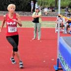 Jutta Pfannkuche, W60-Seniorenweltmeisterin, übersprang in Uslar sehr sicher 1,38 Meter. Foto: nh