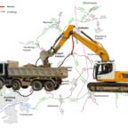 Zwischen Ostheim und Sipperhausen wird die L4328 zwischen dem 5. und voraussichtlich 8. August für Bohr- und Schürfarbeiten gesperrt. Montage: SEK-News