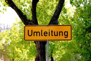 Hinweis auf die Umleitung. Foto: Oliver Graumnitz | Pixabay