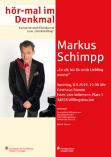 Markus Schimpp kommt am 8. September ins Gasthaus Stamm. Foto: nh