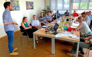 Vortrag und Diskussion zur Mikromobilität. Foto: nh