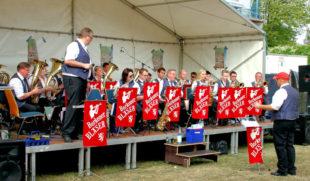 Die Borkener Bläser haben beim Platzkonzert ab 15 Uhr wieder ein Heimspiel in Borken. Foto: no | Stadt Borken Hessen