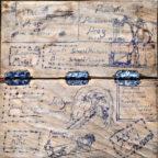 Das am Waberner Kirchplatz gefundene Schachbrett brigt auf seiner Unterseite eine kleine historische Sensation. Foto: Schattner