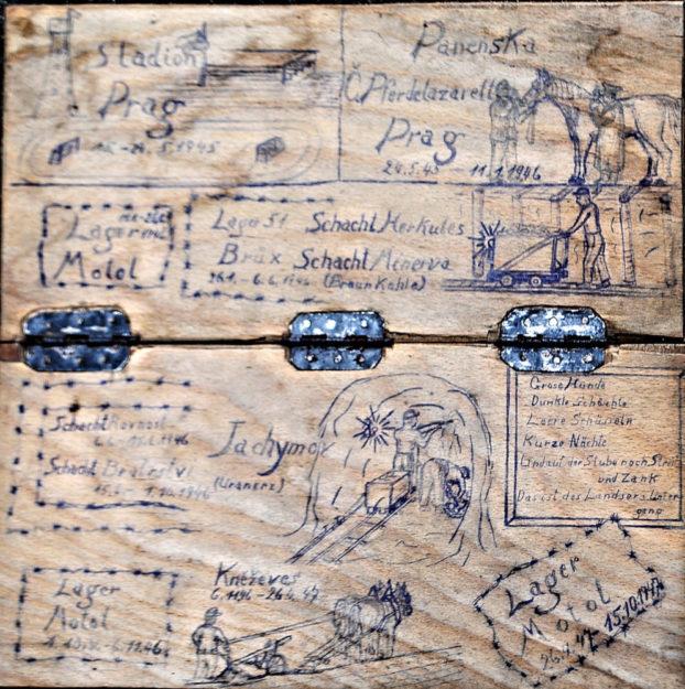 Das am Waberner Kirchplatz gefundene Schachbrett birgt auf seiner Unterseite eine kleine historische Sensation. Foto: Schattner