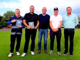 Golfer aus Leidenschaft (v.li.): Ingo Krumpholz, Marco Sperling, Club-Präsident Jürgen Sattler, Martin Hahn und Florian Schönhut. Foto: nh