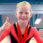 Die neunjährige Clara Besser hat ihr selbst gestecktes Ziel erreicht: unter den Top 10 zu sein. Foto: nh